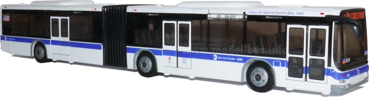MTA articulated bus modellbus info
