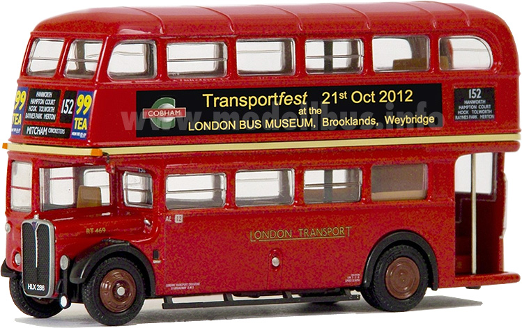 AEC RT London Bus Museum modellbus info