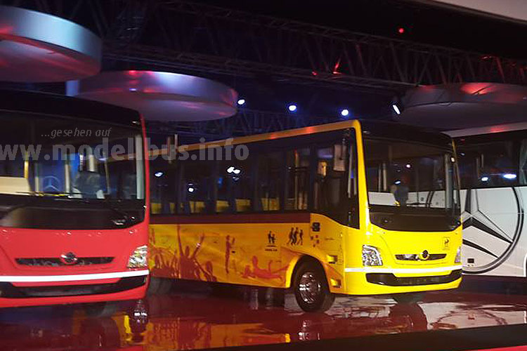 Daimles BharatBenz-Busse in Indien - modellbus.info